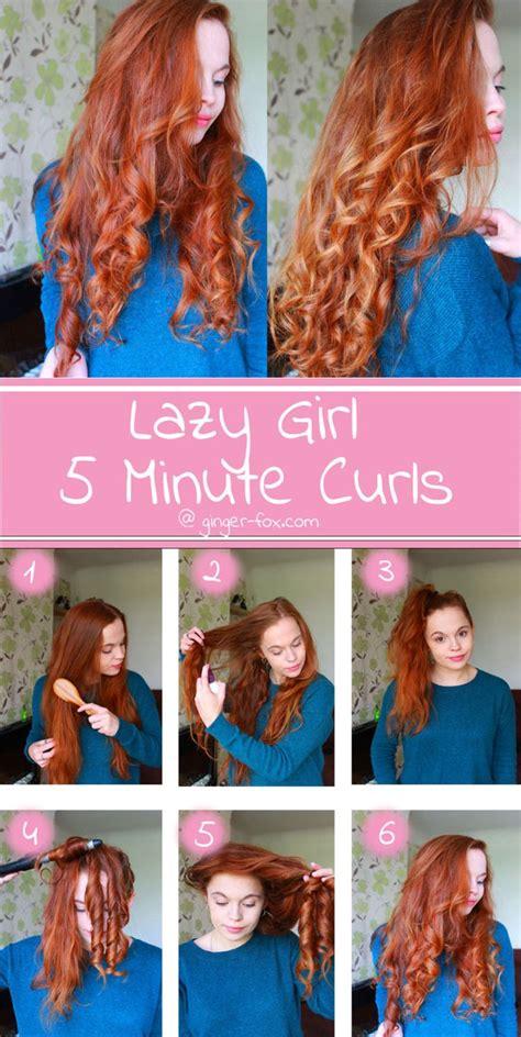 easy  minute curls  lazy girls   curls