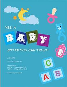 Babysitter Flyer Sample 17 Best Images About Babysitting Flyer Template On