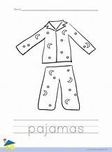 Pajama Coloring Pajamas Worksheet Preschool Pj Pages Crafts Outline Llama Activities Thelearningsite Info Pyjama Colouring Worksheets Party Sketch Printable Pyjamas sketch template