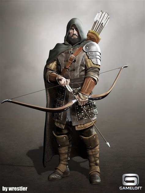ArtStation - archer longbow render, Georgi Georgiev