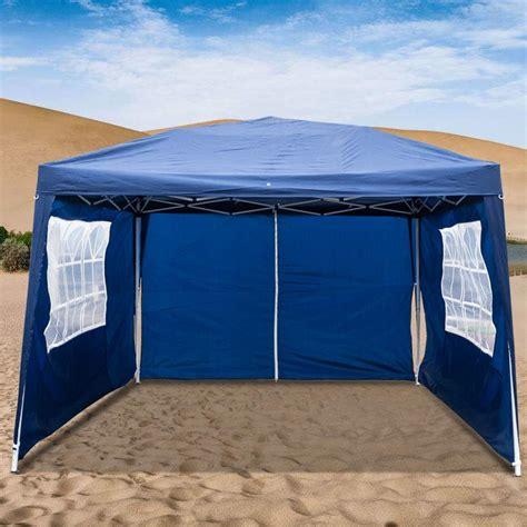 ubesgoo    ft heavy duty ez pop  gazebo canopy tent  removable sidewalls blue