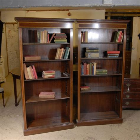 Pair Edwardian Sheraton Open Bookcases Bookcase Ebay