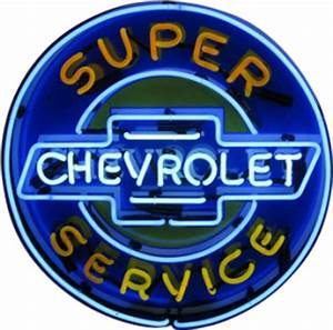 Automotive Neon Signs Chevrolet Super Service Neon