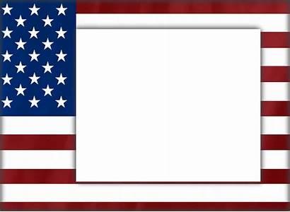 Frame Usa Clipart 4th July Patriotic Transparent