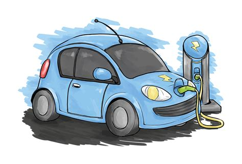 Electric Car Search by Electric Car Vector Illustration Free Vector