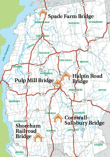 Middlebury Vermont Covered Bridges Vermont Addison County