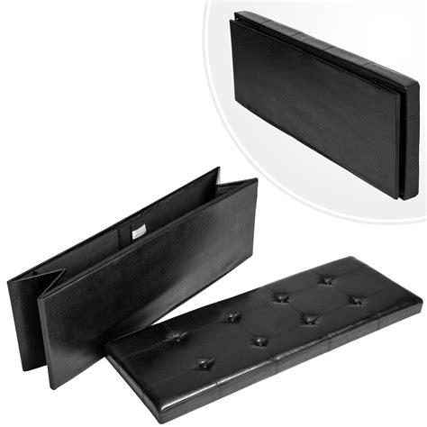 coffre siege rangement tabouret pliant cube pouf dé pliable coffre siège boîte de rangement 110x38x38 n ebay