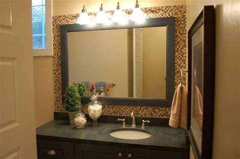Bathroom Mirror Framed Mosaic