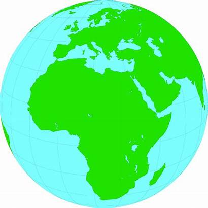 Globe Africa Clip Clipart Earth Showing Transparent