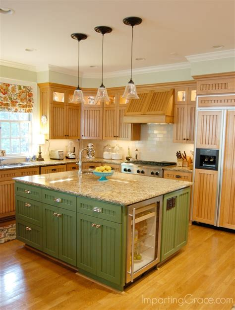 green kitchen island imparting grace kitchen island makeover