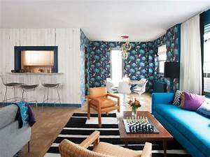 Muster Tapete Wohnzimmer : 71 wohnzimmer tapeten ideen wie sie die wohnzimmerw nde beleben ~ Markanthonyermac.com Haus und Dekorationen