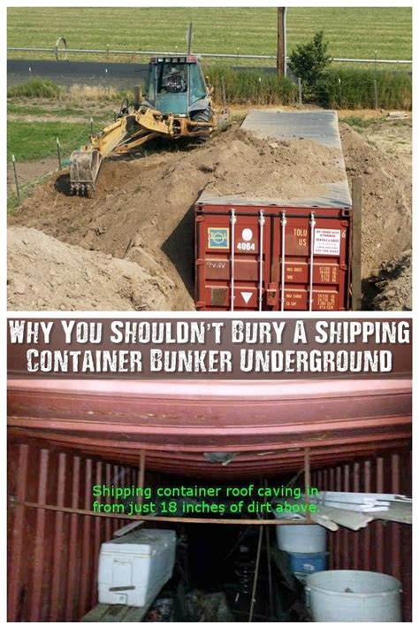 shouldnt bury  shipping container bunker underground shipping container homes
