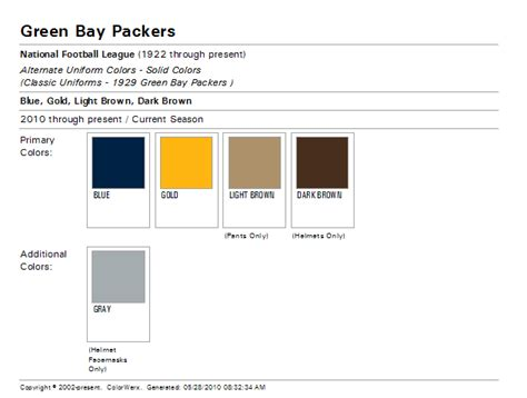 green bay packer colors the wearing of the green and gold the color match