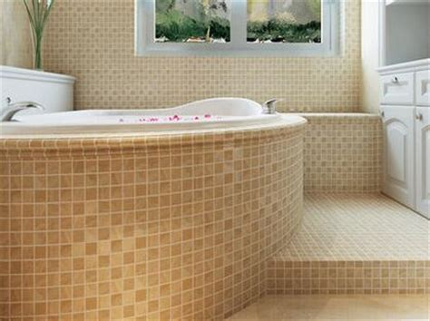 minimal art extra thick ceramics mosaic tile bathroom anti