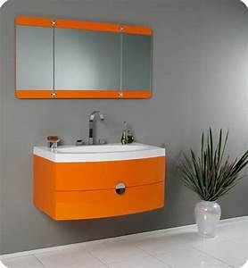 Salle De Bain Orange : d co salle de bain en orange quelques id es originales ~ Preciouscoupons.com Idées de Décoration