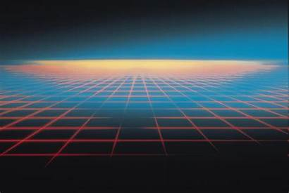 Tron Grid Digital Abstract Geometry Background Artwork