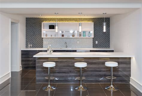 Contemporary Home Bar by Copper Corner Contemporary Home Bar Toronto By