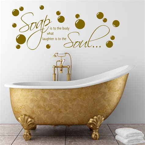 Bathroom Wall Quote Soap Body Wall Sticker Decal Transfer