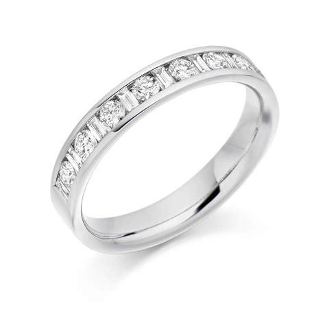 18ct white gold channel set 30 diamonds vintage