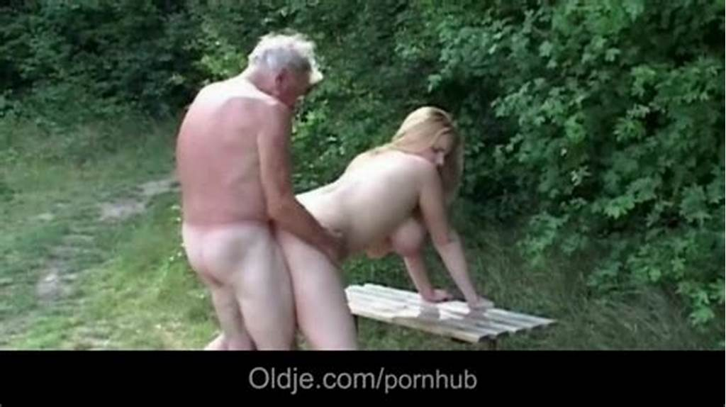#Horny #Grandpa #Gets #Pleased #By #Huge #Tits #Blonde #Slut #Near #A