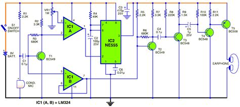 Smart Sensitive Electronic Hearing Aid Circuit Schematic