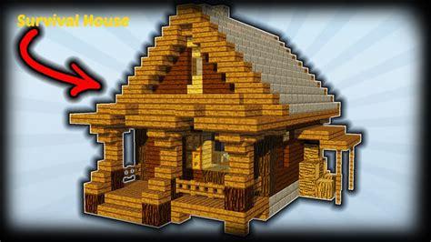 minecraft   build  survival house starter house tutorial youtube