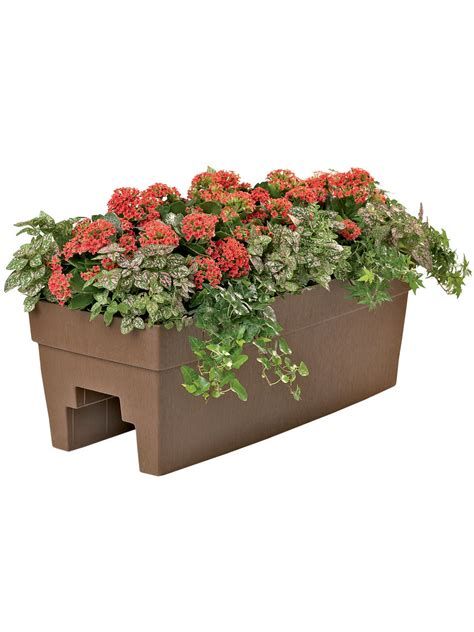 Banister Planters by Deck Railing Planter For 2x4 Or 2x6 Railings