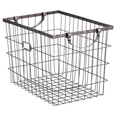 Harvest Wire Storage Baskets With Handles  The Container