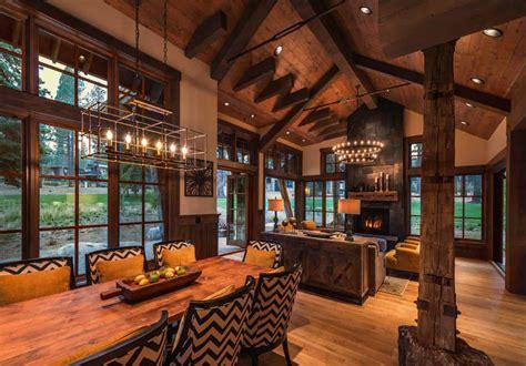 cozy mountain style log cabin getaway  martis camp truckee california  design ideas