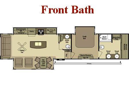 front kitchen rv floor plans new fifth wheels for broadmoor rv superstore 6758