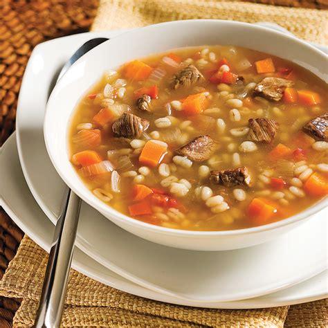 soupe boeuf et orge recettes cuisine et nutrition