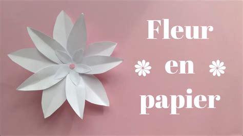 fleur en papier facile diy fleur en papier facile