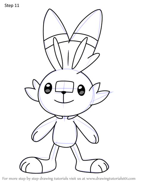 learn   draw scorbunny  pokemon pokemon step  step drawing tutorials