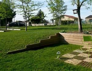 jeux de niveaux retention de terres terrasse jardin With maison en pente forte 1 mur gabion dans le jardin moderne un joli element fonctionnel