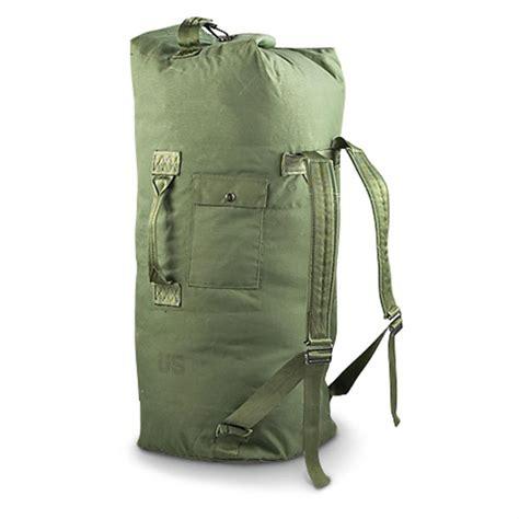 duffle bag u s surplus duffel bag used 135779 camo duffle bags at sportsman s guide