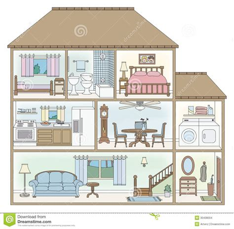 painting homes interior house clipart cross section pencil and in color house