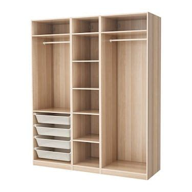 pax white stained oak effect ikea en 2019 closets casa muebles armario ropero y