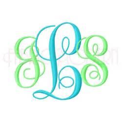 Interlocking Vine Monogram Embroidery Font