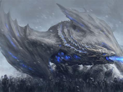 white walkers dragon game  thrones full hd  wallpaper