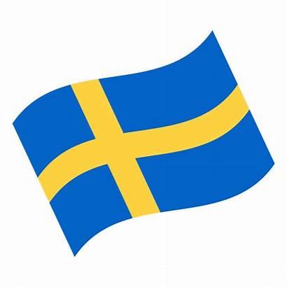 Flag Swedish Vector Sweden Icon Waving Flat