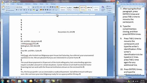 letter spacing in word corr 50 32 modified block style business letter 52004