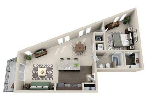plan appartement 2 chambres 50 plans en 3d d appartement avec 1 chambres apartments