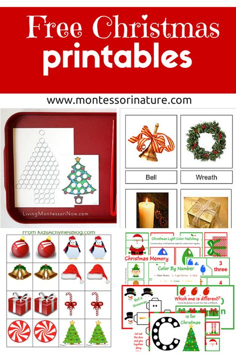 free christmas printables learning resources for preschool kids montessori nature