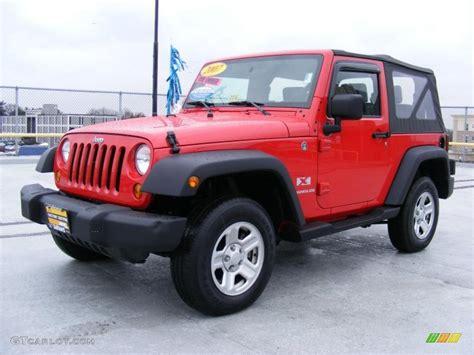 red jeeps 2007 flame red jeep wrangler x 4x4 26595702 gtcarlot