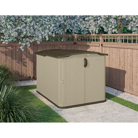suncast sheds glidetop resin storage shed kit w floor
