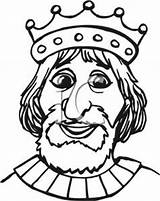 King Coloring Crown Clipart Wearing Pages Clip sketch template
