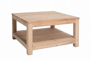Table En Teck Massif : table basse carr e double plateaux en teck massif gamme solo ~ Teatrodelosmanantiales.com Idées de Décoration