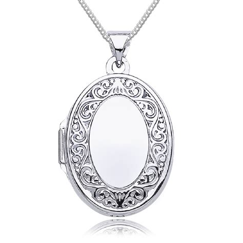 Scroll Border White Gold Locket, Personalised  Engraved. Engagement Ring With Wedding Band. Saint Michael Necklace. Flower Watches. Single Diamond Wedding Rings. Clear Glass Pendant. Party Necklace. Teak Rings. Toggle Bracelet