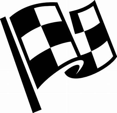 Race Flags Clipart Flag Clip Checkered Vector