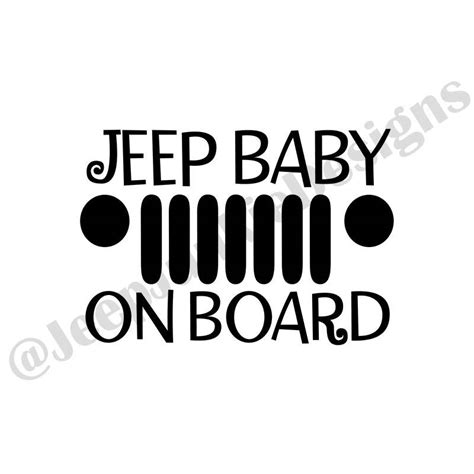 jeep baby jeep baby on board vinyl decal